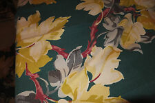 30s  Barkcloth good stuff Hollywood bungelow Florida cottage VINTAGE yellow flw