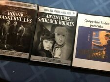 2 Sherlock Holmes mysteries w/ Basil Rathbone, and a Silent Sherlock Holmes, DVD