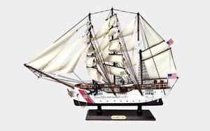 "24"" USCG COAST GUARD BARQUE EAGLE WAR PIRATE  FLAG Wood Vintage Model Ship"