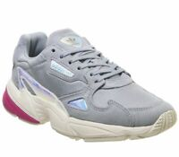 Womens Adidas Falcon Trainers Light Grey Real Magenta Iridescent Exclusive Train