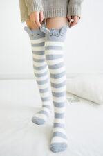 Amazing  Novelty Fluffy Totoro Over Knee Socks Warm Soft Cosy Gift Bed Socks