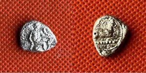 092 GREEK EMPIRE - EVAGORAS I 411-373 B.C. - AR 3.24g - 16mm