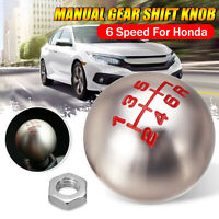 Car 6 Speed Manual Gear Stick Shift Shifter Knob Lever M10 For Honda Aluminum