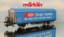 """H0-Märklin 4735 schiebedachwagen """"cargo domicilio"""" de los SBB-CFF taller examinado"""