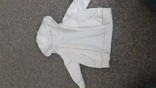 F&F baby's whitehooded jacket 0-3 months in good condition