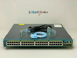 Cisco WS-C2960S-48FPS-L - 48 Port PoE+ Gigabit Network Switch - SAMEDAYSHIPPING