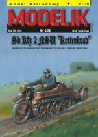"GENUINE PAPER-CARD MODEL KIT -Modelik- Tracked Motorcycle ""KETTENKRAD"" HK-101"