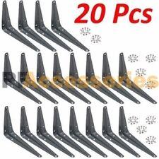 "20 Pcs Heavy Duty 4"" x 5"" inch Metal Shelf Brackets Grey Book Contertop Support"