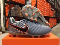 Nike Junior Legend 7 Academy FG Cleats (Grey/Black/Armory Blue) Size: 10c-3y NEW