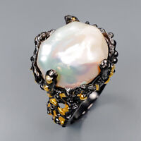 Baroque Pearl Ring Silver 925 Sterling Recommend jewelry ring Size 7.5 /R145389