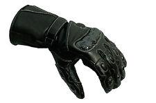 Motorcycle Gloves Leather Mens Motorbike Waterproof Thermal carbon Knuckle