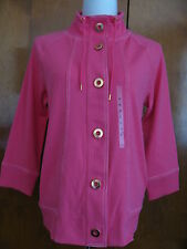 New w/tags Jones New York Women's Pink Stretch Buttoned Pocketed Jacket Medium