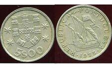 PORTUGAL 5 escudos 1975