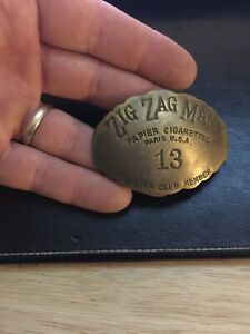 Zig Zag Epaulette Solid Metal Brass Finish Patina Tobacco Cigarette Collector