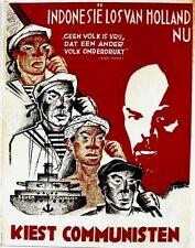 Original vintage poster INDONESIA COMMUNIST PROPAGANDA c.1945