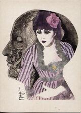 """Alte Kunstpostkarte - Celestino Piatti - Umschlag Grafik zu """"Der Totmacher"""""""