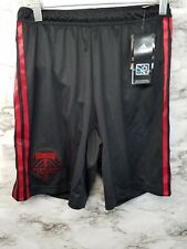 New Adidas Portland Timbers Training Soccer Shorts New 60$ Mens S Black Red NWT