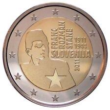 2 EURO ESLOVENIA 2011. MONEDA CONMEMORATIVA - FRANC ROZMAN. S/C