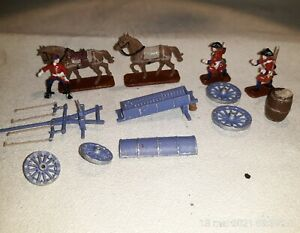 1/72 PAINTED SOLDIERS : MARLBOROUGH'S ARTILLERY AMMUNITION WAGON (3 figs )