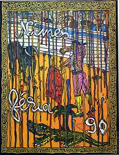 Affiche originale de 1990  - FERIA DE NÏMES 1990 - Robert Combas -
