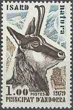 Timbre Animaux Isard Andorre poste française 274 ** (41164C)