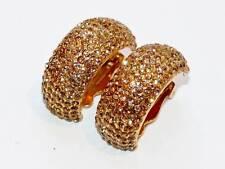 Artisan Light Colorado Topaz made with Swarovski Crystal Cuff Hoop Earrings