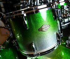 """Pearl Masters MCX 13"""" Mounted Tom/Lime Sparkle Fade/Finish #364/Maple Shell"""