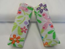 Baby Seat Belt Strap Covers  Highchair Stroller Pram - Bright Flowers Butterfly