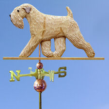 Soft Coated Wheaten Hand Carved Hand Painted Basswood Dog Weathervane