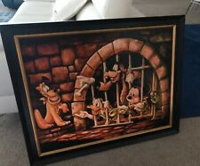 Disney Parks Pirates of The Caribbean Here Poochie Jail  Mickey Giclée DWilson