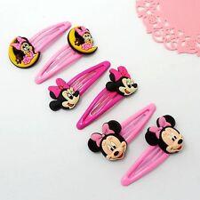 Children Baby Girls 3 Pair Cartoon Mickey Hair Clips/Pins/Slides/Accessory/Grips