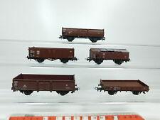 bg783-1 # 5x Roco H0 / DC Vagón de mercancía DB : 897000 +340827 +752053