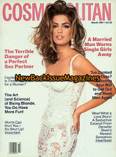 Cosmopolitan 3/91,Cindy Crawford,March 1991,NEW