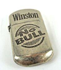 Vintage Winston No Bull Lighter, Very Good Condition, Needs Flint & Fuel