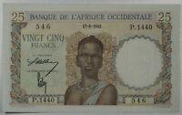 French West Africa 25 Francs, 1943... P-38...AU