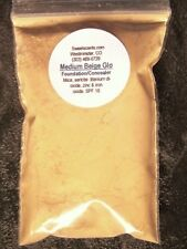 MINERAL MAKEUP~1z ~FOUNDATION~BARE~SWEETSCENT~LOOSE POWDER~MICA~MEDIUM BEIGE GLO