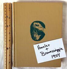 Hamlet and Brownswiggle Barbara Leonard Reynolds 1954 Hampster Story HC Vintage