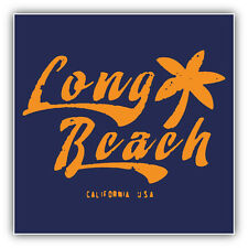 Long Beach California USA Grunge Label Car Bumper Sticker Decal 5'' x 5''