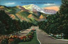 Stati Uniti VINTAGE PC 1940/50 Colorado Springs Plate Avenue VINTAGE POSTCARD America