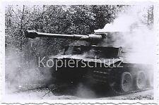 Tiger Panzer IV in Aktion - große Staubwolke vom legendären Panzer Foto 10x15cm