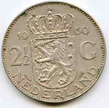 Netherlands 2 1/2 Gulden 1960 lettered edge error   lotfeb4227