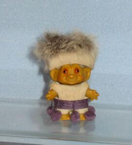 Vinage 1960's TROLL Doll , Furry Hat , Pom poms, Old ORIGINAL PERIOD PIECE.