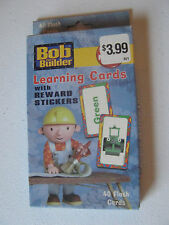 1 Box Bob The Builder Learning Cards with Reward Stickers - 40 Cards New in box