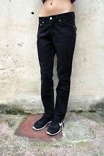 TRUSSARDI LADIES Black Denim Stretch Jeans 80s Quality Faded Straight W30 Uk12