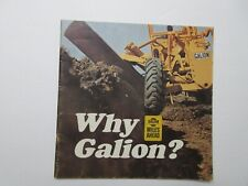 Older Rare Galion Road Graders Brochure 20 Pages Full Line