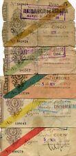 SERIE BILLETES GIJON AÑO 1936 ( roturas )      ( MB13576 )