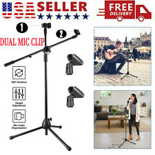 Foldable 360-degree Rotating Telescoping Mic Stand Tripod Boom Arm Stage Holder