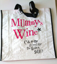 Mummy's Wine * Kids Food LARGE TOTE SHOPPER BAG Bright Side Gift Range BSMH23