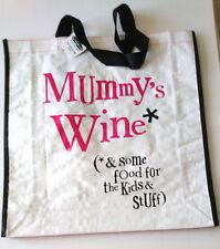Mummy's Wine * Kids Food LARGE TOTE SHOPPER BAG Bright Side Gift Range BSMH23