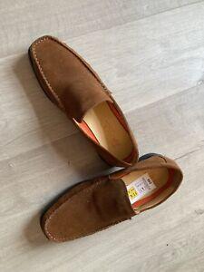 Men's Marks & Spencer Brown Suede Airflex Loafer Shoes Size 10